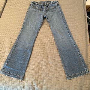 Express size 6 flare jeans